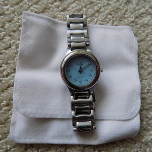 GUESS JEANS INDIGLO WATERPRO STAINLESS STEEL WATCH